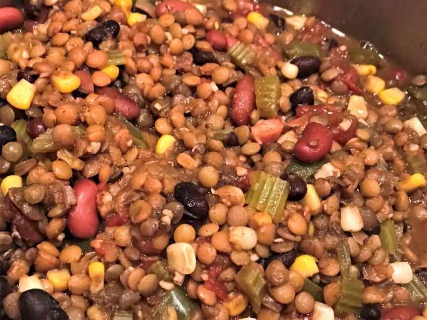 Vegan 1 Pot Red LentilChili