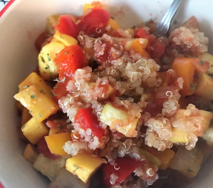 Ratatouille & Quinoa – Gluten-Free &Vegan